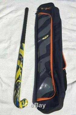 36 inch Yellow TK Platinum Field Hockey Stick with Dark Blue TK stick bag- used
