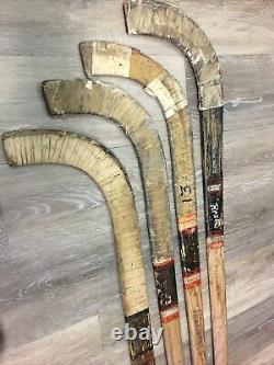 4 Vintage Wood Rink Hockey Sticks Sports RENO INTERNATIONAL SKATE Sonny Winburn