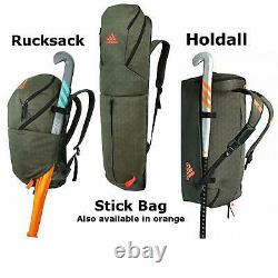 Adidas H5 Field Hockey Bags Holdall Stick Bag Rucksack Khaki FREE UK SHIPPING