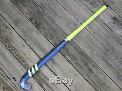 Adidas V24 Carbon Compo 2 Blue/Solar Yellow Field Hockey Stick 37.5L FieldHockey