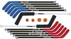 DOM Excel Hockey Set, Includes 10 Sticks, 2 Goalie Sticks, 2 SuperPucks and 2
