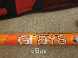 Grays 700i International Indoor Wooden Hockey Stick withBag Case 45 deg Reinforced