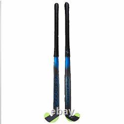 Kookaburra 2018 Ultralite Xenon L-Bow Extreme 1.0 Hockey Stick Black/Blue- 36.5L