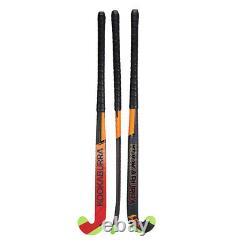 Kookaburra 2019 Fire L-Bow Extreme X Field Hockey Stick Black/Orange/Red