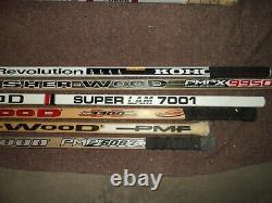 Lot of 12 Vintage Wooden Hockey Sticks