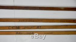 Lot of 5 Vintage Wooden Hockey Sticks Northland CCM Hull Rawlings St Louis Blues