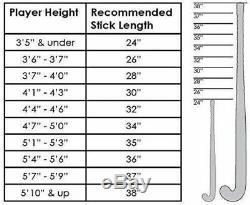 MALIK Field Hockey Stick Heat X-Treme Design Aramid Black and Red 37.5 Inch