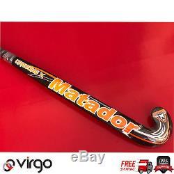 MATADOR CARBONE X Composite field hockey stick size 36.5 & 37.5 Free Grip+ Bag