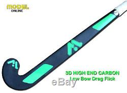 Model CN-900 Field Hockey Stick Outdoor Low Bow Profile 90% 3D Carbon Fiber