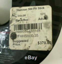 New STX 500 Hammer Black & White Field Hockey Stick 36 Retail $370