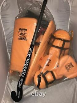 Penn Monto Goalie Field Hockey Pads Leg, Kicker, Neck, Hand Deflector, Stick New