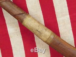 Vintage 1930s Bulger Wood Field Hockey Stick Junior Long Blade 30 Antique Nice